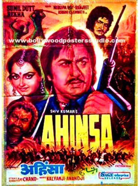 Ahinsa hand painted bollywood movie posters