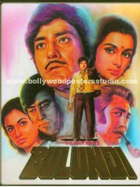 Bulandi hand painted bollywood movie posters