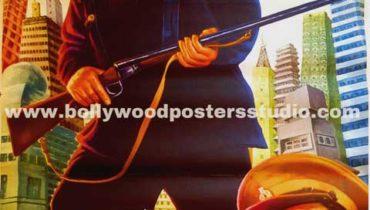 Ek daku saher mein hand painted posters