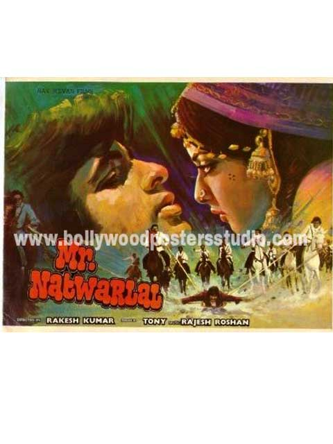 Mr. Natwarlal hand painted posters