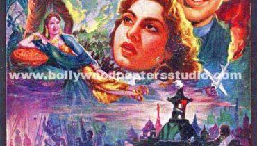 Uran khatola hand painted bollywood movie posters