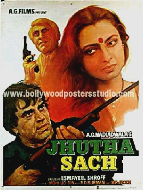 Jhuta sach hand painted posters
