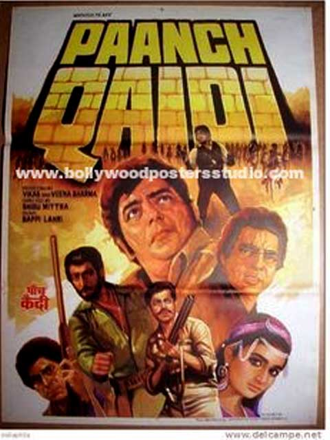Paanch kaidi hand painted posters