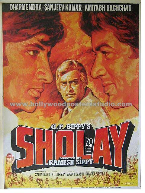 sholay hand painted posters