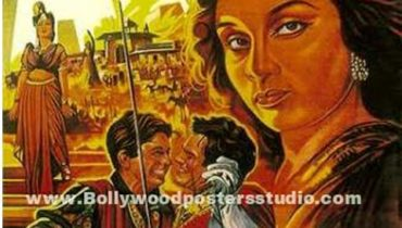 Hand painted bollywood movie posters Aan
