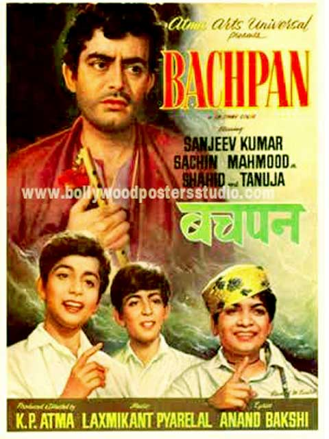 Hand painted bollywood movie posters Bachpan