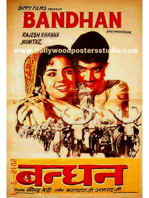 Hand painted bollywood movie posters Bandhan