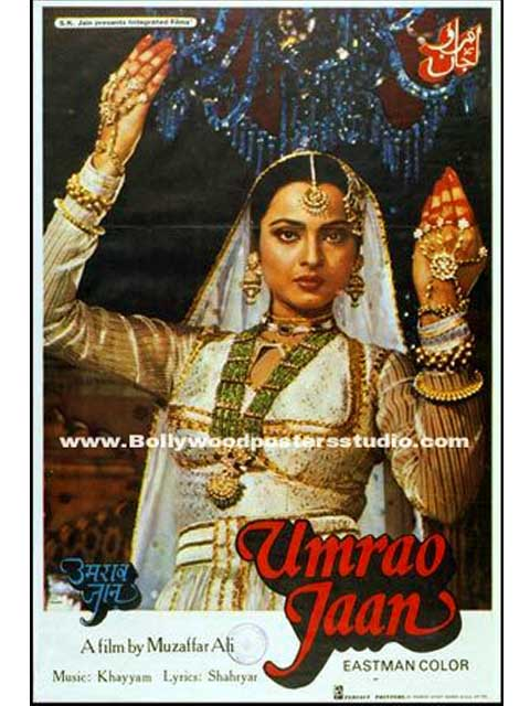 Hand painted bollywood movie posters  Umrao jaan