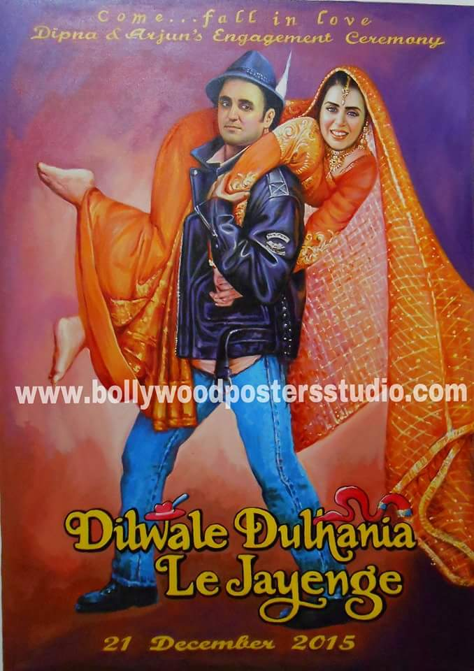Custom bollywood style invitation cards and backdrop decoration for wedding and engagement