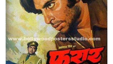Bollywood movie posters Faraar – Amitabh bachchan