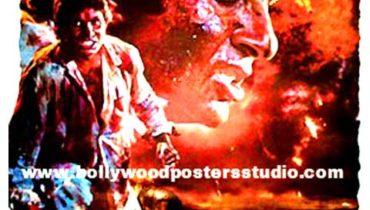 Hand painted bollywood movie posters Agneepath – Amitabh bachchan