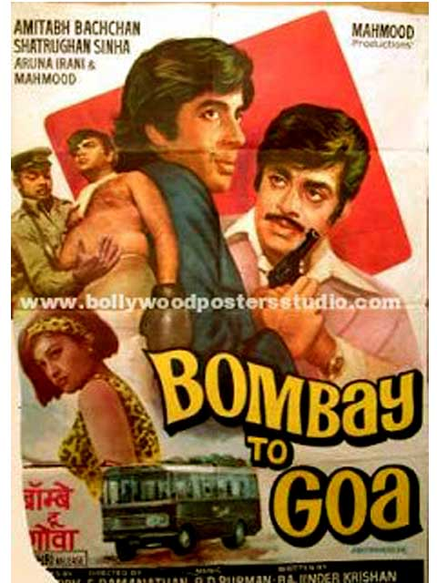 Hand painted bollywood movie posters Bombay to Goa – Amitabh bachchan