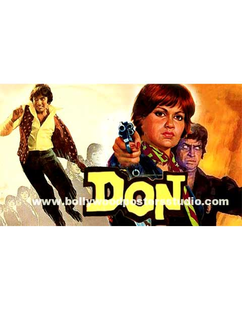 Don Hand painted bollywood movie posters –  Amitabh bachchan