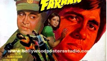 Hand painted bollywood movie posters Faraar – Amitabh bachchan