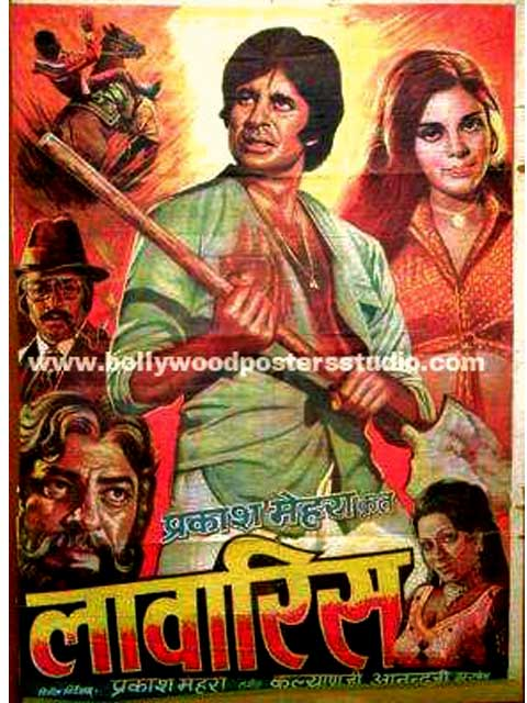 Hand painted bollywood movie posters Lawaris – Amitabh bachchan