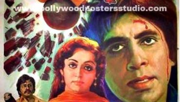 Hand painted bollywood movie posters Nastik – Amitabh bachchan