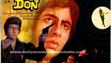 Hand painted indian movie posters Don – Amitabh bachchan