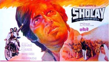 Original hand painted bollywood posters Sholay – Amitabh bachchan