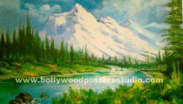 Landscape oil paintings on canvas