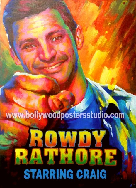 Custom best bollywood movie posters original hand painted