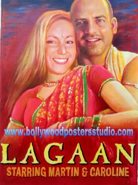 Custom Indian movie themed wedding gift online