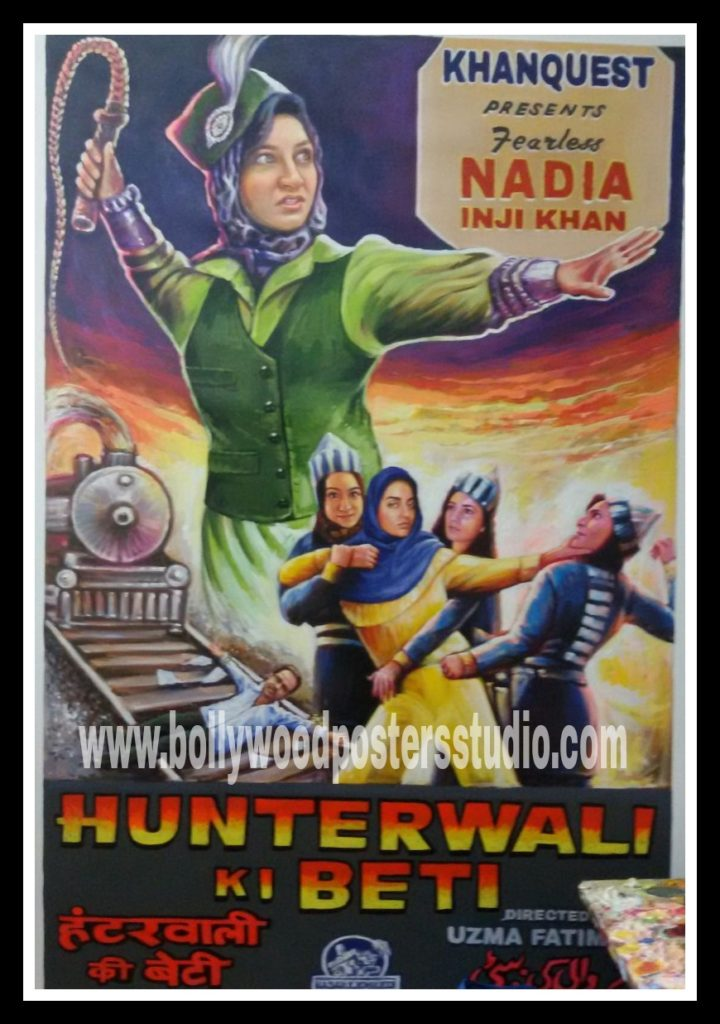 Customized Indian Bollywood action theme poster hand painted