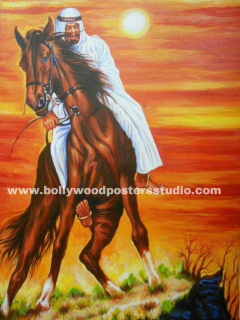 Canvas oil paint artist and painters in mumbai – indo arabic Horse painting