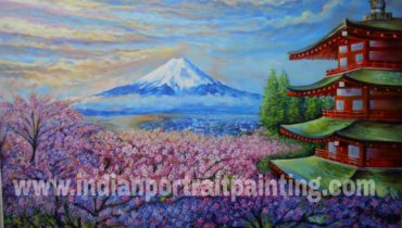 Paintings for home decor on canvas – Japanese cherry blossom