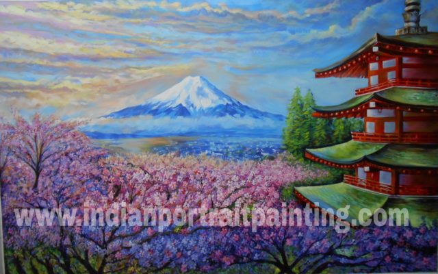 Paintings for home decor on canvas - Japanese cherry blossom