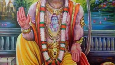 Portrait on oil canvas hand painted artist – Mahabali Hanuman