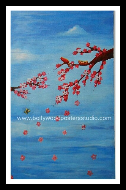 Hand painted oil canvas paintings for sale – flowers