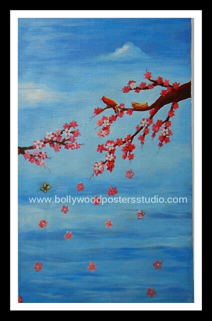 Hand painted oil canvas paintings for sale - flowers