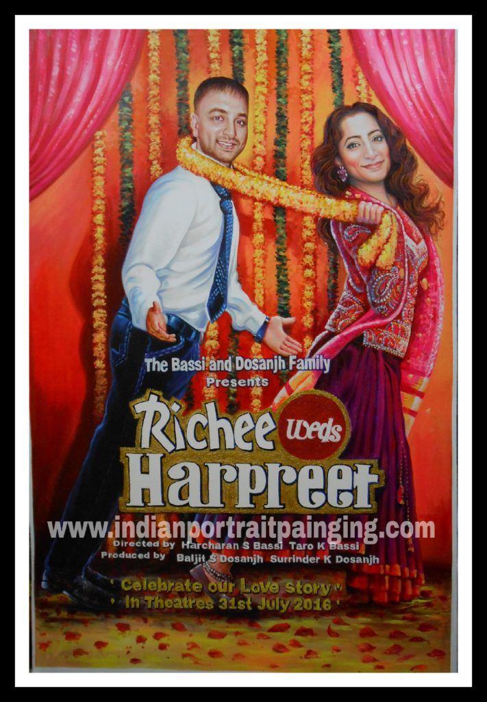 Custom bollywood posters painter