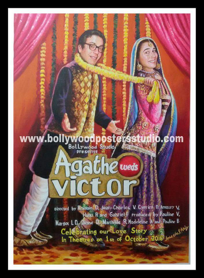 Custom bollywood posters art