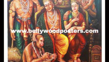 Ram seeta hanuman hand painted reproduction on oil canvas
