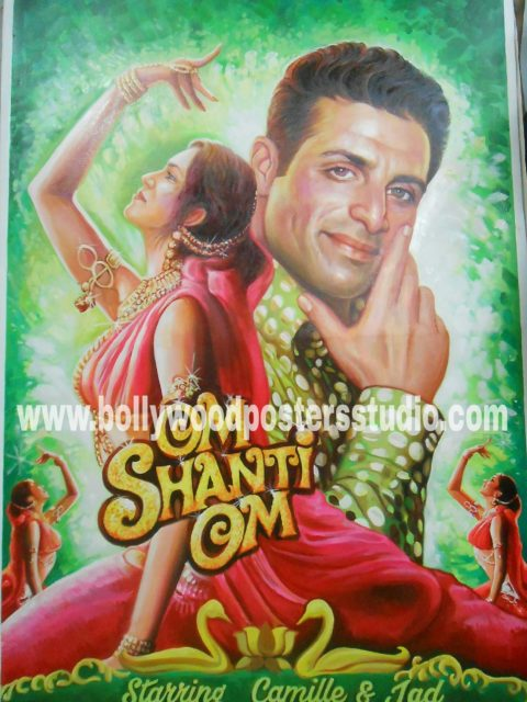 Hand painted bollywood custom film posters on canvas