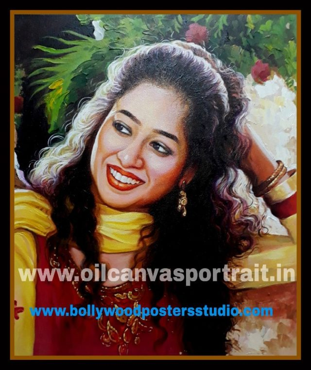 Hand painted portraits from photos india,mumbai