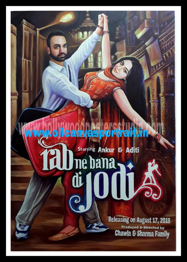hand painted custom bollywood posters