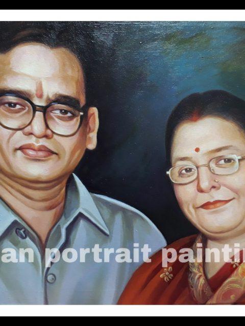 Image to canvas portrait for parents