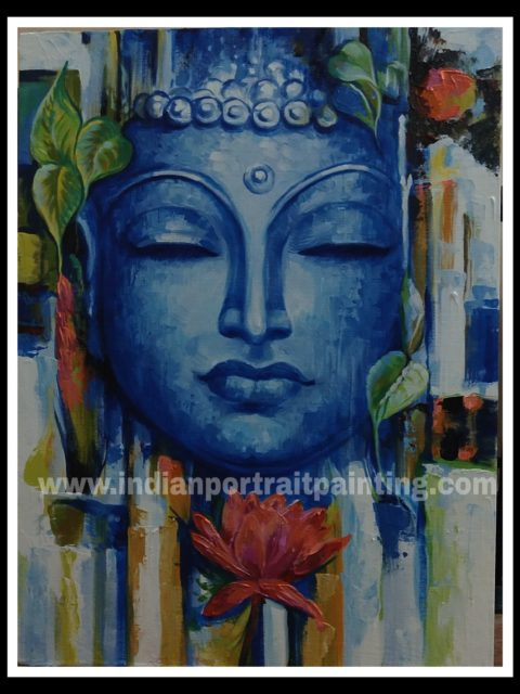 Buddha canvas oil paintings abstract art