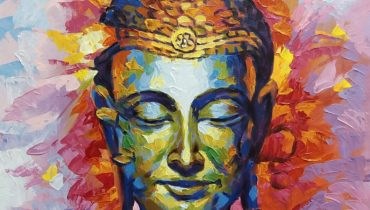 Buddha canvas oil paintings contemporary knife art