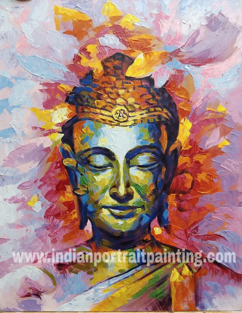 Buddha canvas oil paintings contemporary knife art   Custom ...