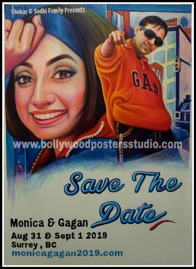 Customized movie posters for wedding