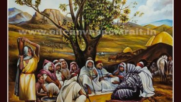 Famous arabic oil canvas paintings by old artists
