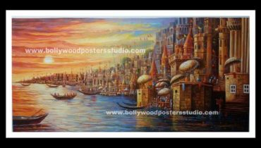 Hand painted oil paintings – Banaras ghat
