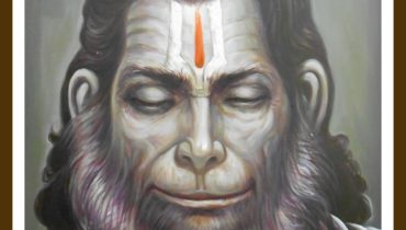 Contemporary Hanuman ji oil paintings on canvas