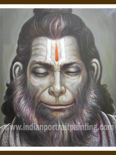 Contemporary Hanuman ji oil paintings on canvas