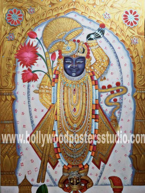 Oil on canvas paintings – Shrinath ji