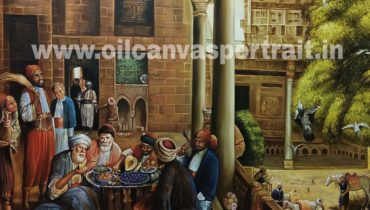 Oil paintings on canvas – old arabian fine art paintings