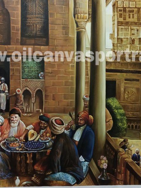 Oil paintings on canvas – old arabian fine art paintings